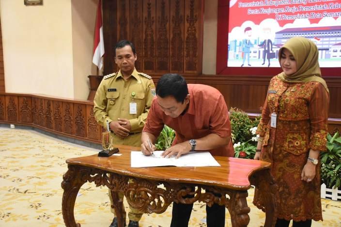 Ajak 90 Pejabat, Wihaji Teken Mou dengan Pemkot Semarang