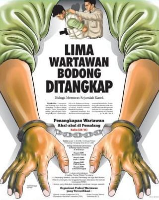 Diduga Memeras Sejumlah Kasek, Lima Wartawan Bodong Ditangkap