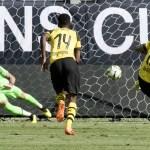 Ainda sem Alisson, Liverpool perde de virada para o Dortmund nos EUA