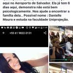 Moradora de Salvador pede ajuda para achar família de brasiliense perdida em aeroporto