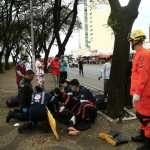 Atropelamento seguido de colisão deixa 3 pessoas feridas em Taguatinga