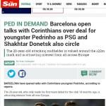 Jornal inglês diz que Barça conversa para ter Pedrinho por R$ 120 mi