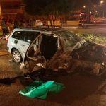 Mulher morre após motorista perder controle e bater em poste em Ceilândia