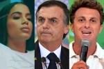 Jornalista da Globo é ameaçado de morte por apoiador de Bolsonaro, Luciano Huck critica o presidente e Anitta se posiciona