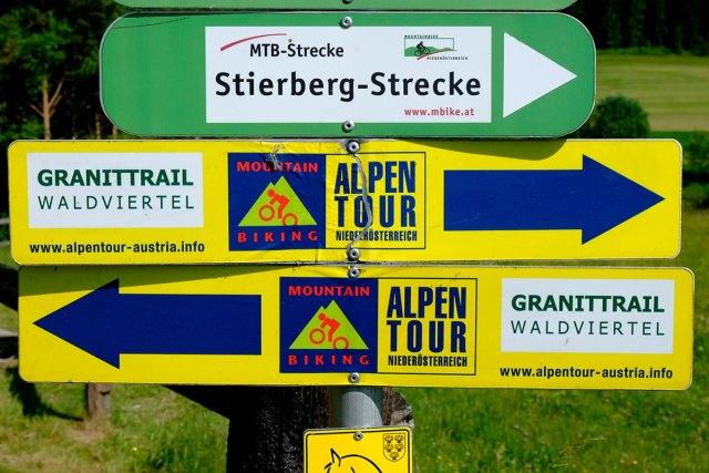 Orientierungstafeln für Mountainbiker.