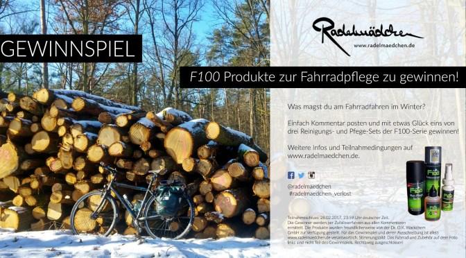 Produkttest & Gewinnspiel (beendet): Die F100 Fahrradreinigungs und -pflegeserie (sponsored post)