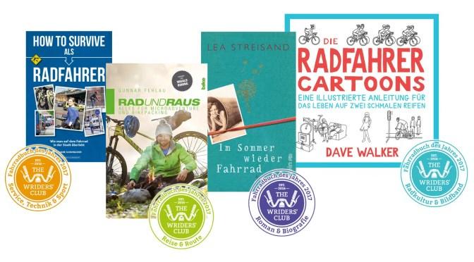 """Die besten Fahrradbücher 2017 – """"The Wriders' Club"""" (TWC) hat abgestimmt!"""