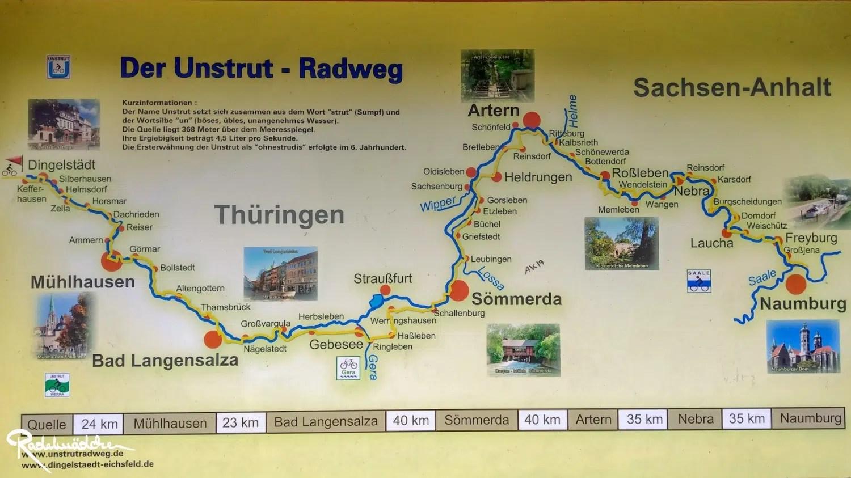 Unstrutradweg Karte