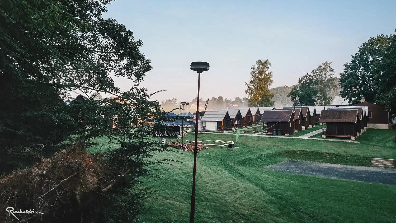 Morgenstimmung im Bohemian Border BashCamp