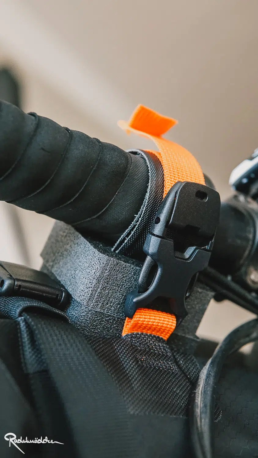 Ortlieb handlebar pack schnalle