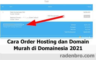 Cara Order Hosting dan Domain Murah di Domainesia 2021
