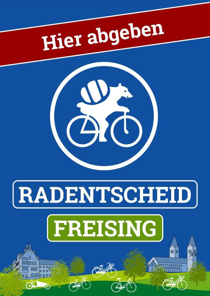 Plakat Unterschriftensammlung Radentscheid Freising