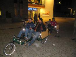 Fahrradbus bei der Critical Mass im Oktober