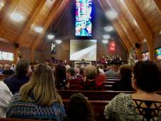 The Dec., 3 special dual services at CUMC were crowded with parishioners.