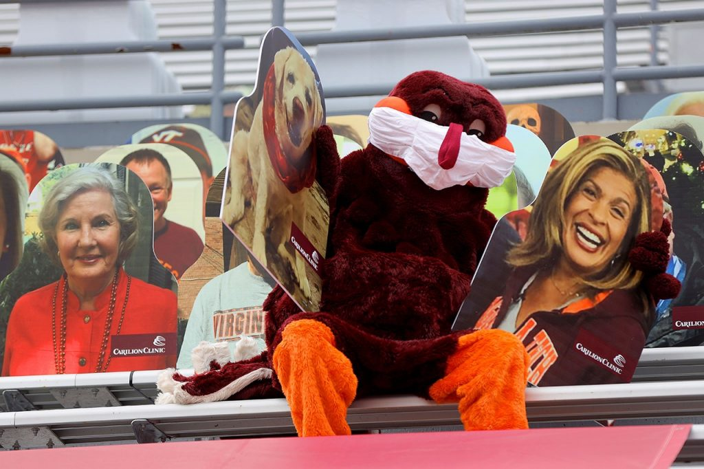 With stadium cutouts, Hokies' faces — and spirit — are in the seats