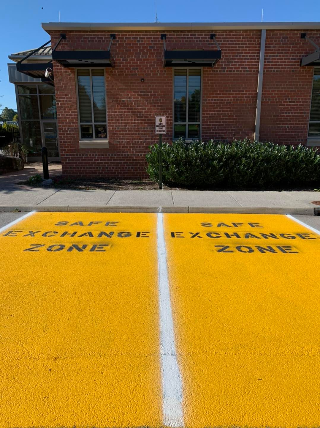 Safe exchange zone installed at police department