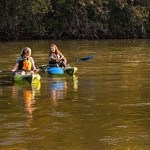 Boaters enjoy the New River on a recent float. The Renew the New River clean-up is to be held today,