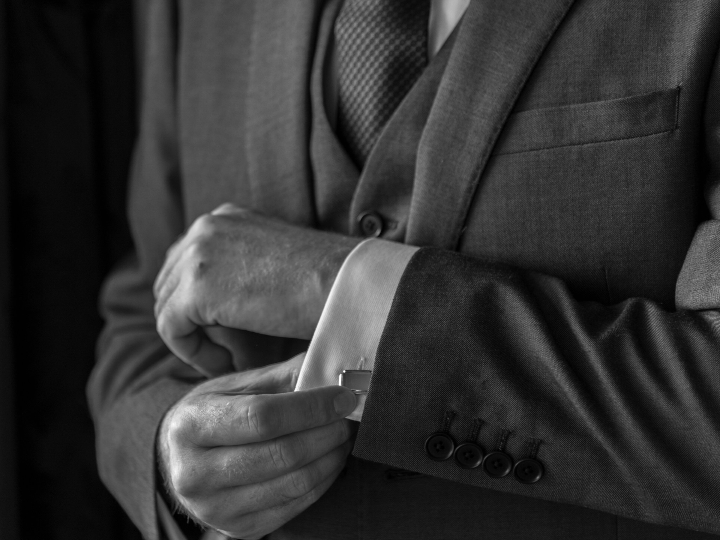 grooms cufflinks cumbria and lake district wedding photography photo by Radiance Photography