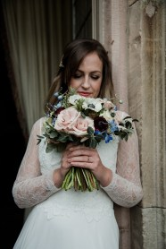 Beautiful bridal bouquet inspired by surroundings at Askham Hall, Cumbria