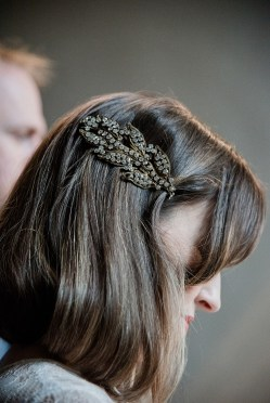 Brides hair clip at Askham Hall