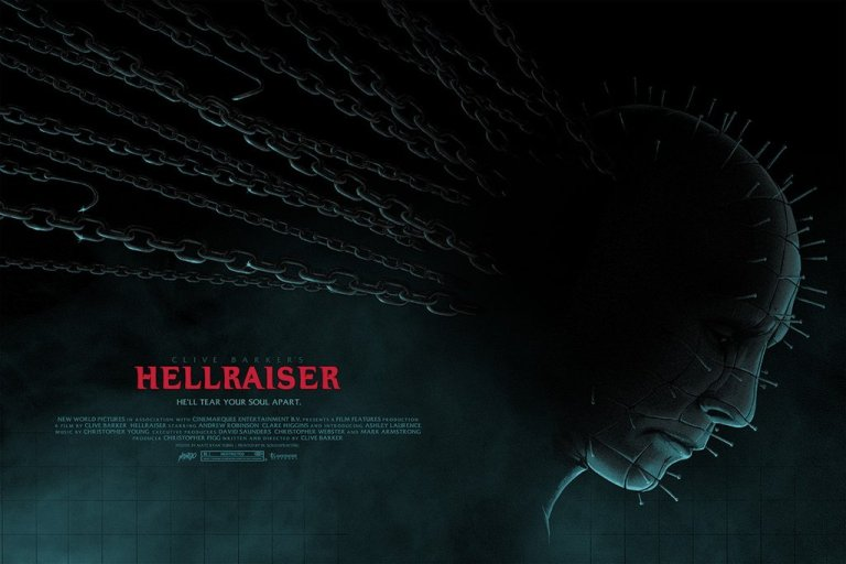 HELLRAISER new poster by artist Matt Ryan Tobin (2017)