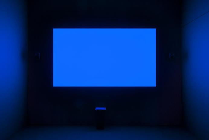 NOW SHOWING: BLUE (1993) by Derek Jarman at Tate Britain.