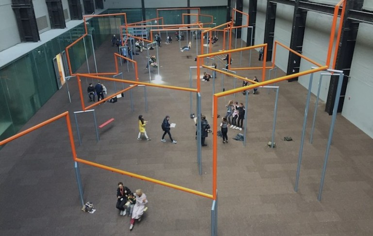 ONE TWO THREE SWING by SUPERFLEX is at Tate Modern (until 02 APR 2018).