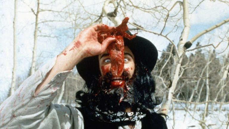 Top Ten Horror Movie Musicals: CANNIBAL! THE MUSICAL (1993).