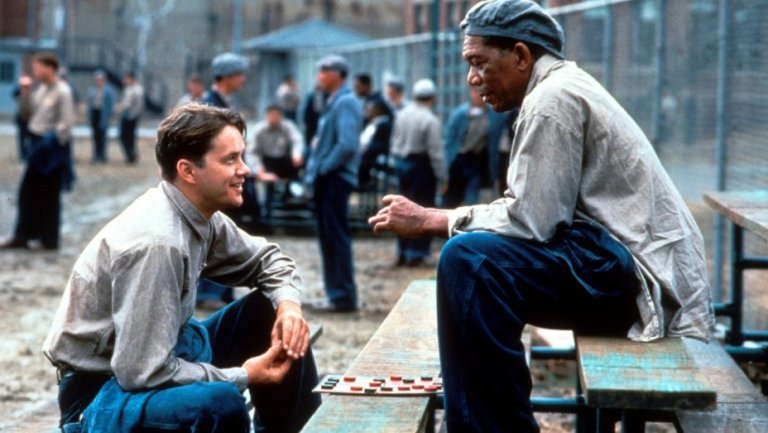 This is a film still from THE SHAWSHANK REDEMPTION showing at the reopened Everyman Hampstead in London.