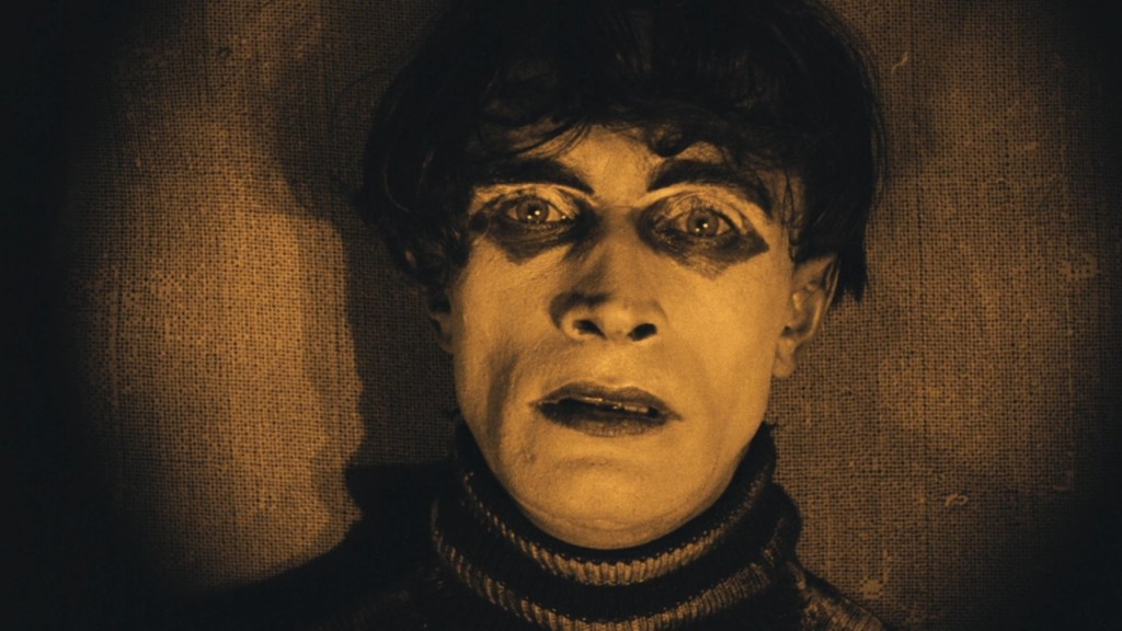 This is a film still from THE CABINET OF DR CALIGARI, screening at ArtHouse Crouch End (10 OCT 2021).