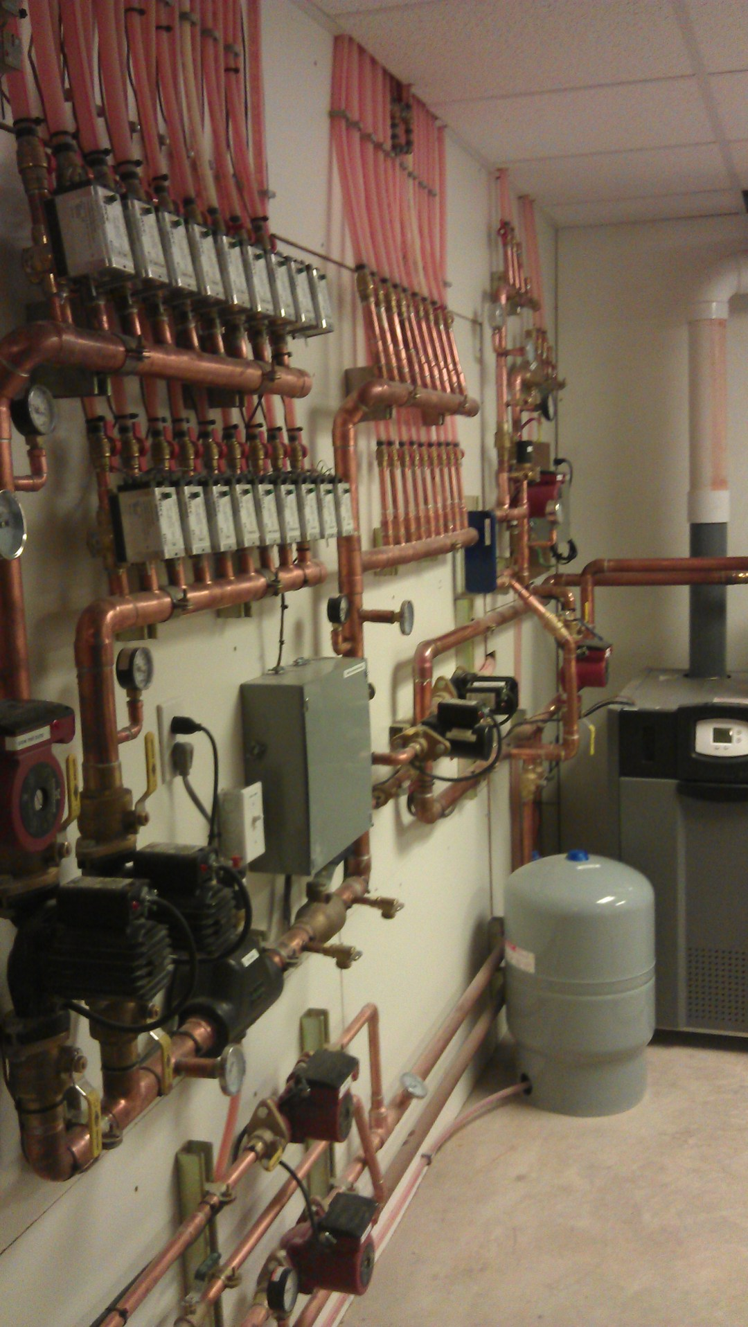 boiler room control panel radiant heating