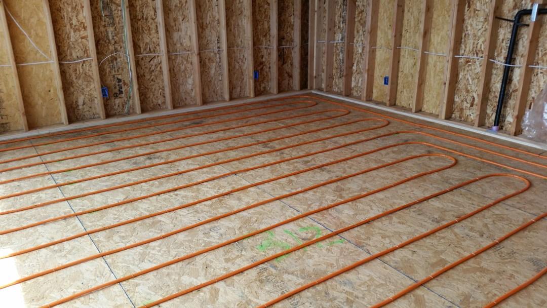 in-floor radiant heat tubing utah