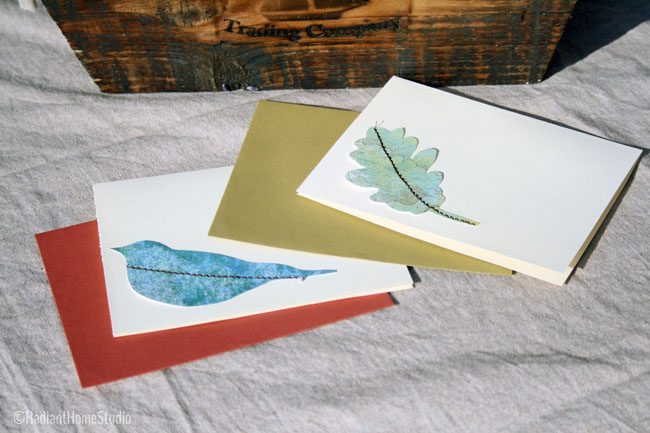 Embroidered Note Cards | Radiant Home Studio