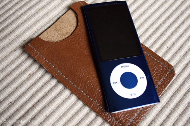 Leather iPod Case | Radiant Home Studio