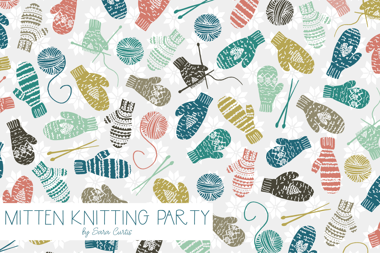 Mitten Knitting Party | Design by Sara Curtis | Radiant Home Studio