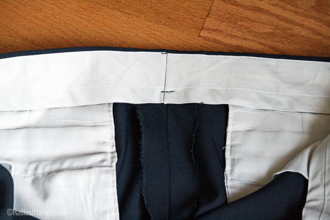 Vintage Trouser Waistband Details | Radiant Home Studio