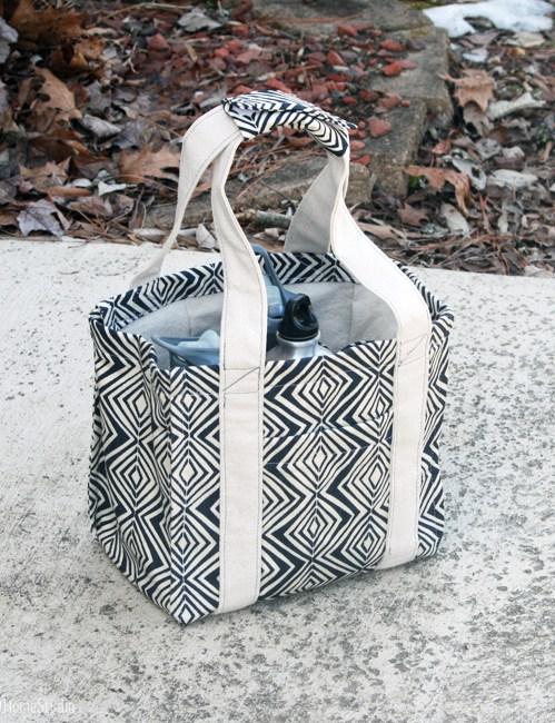 Tribal Water Bottle Tote   Radiant Home Studio