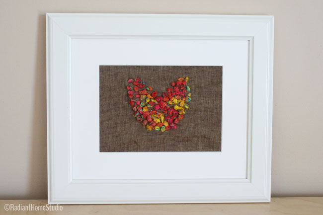 Fabric Scrap Embroidery Tutorial {Hear Wall Art} | Radiant Home Studio