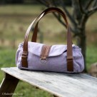 Wool & Leather Evelyn Handbag | Radiant Home Studio