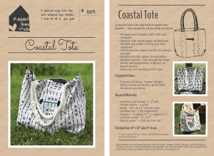 Coastal Tote PDF Sewing Pattern | Radiant Home Studio