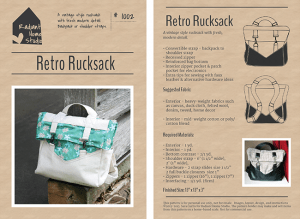 Retro Rucksack PDF Sewing Pattern | Radiant Home Studio