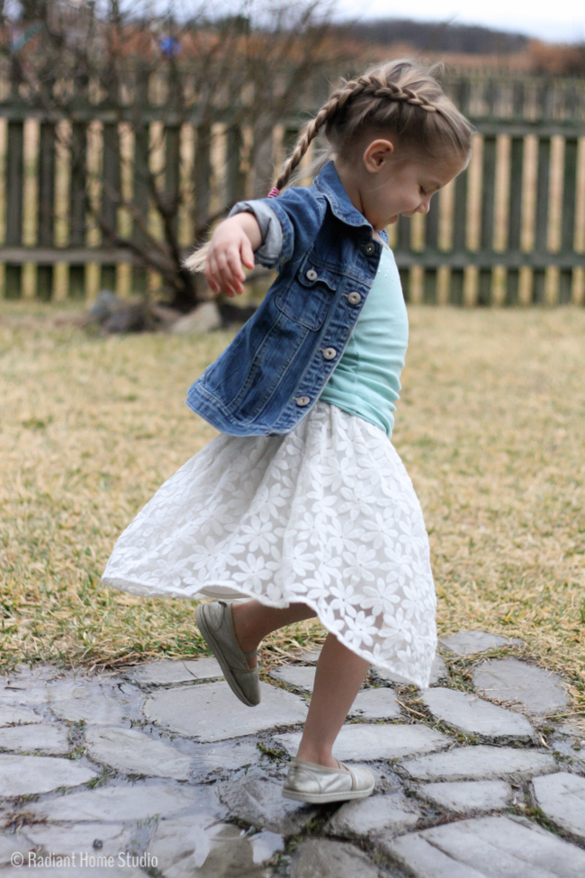 Upcycled Lace Skirt | Radiant Home Studio