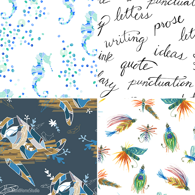 New Spoonflower Fabric Designs | Radiant Home Studio