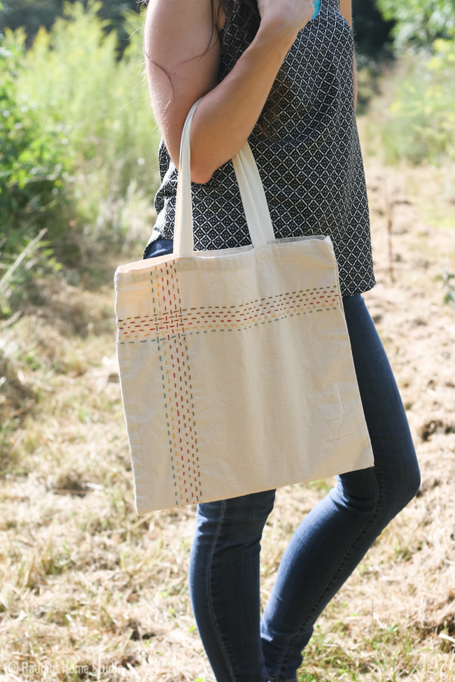 running stitch tote bag-4