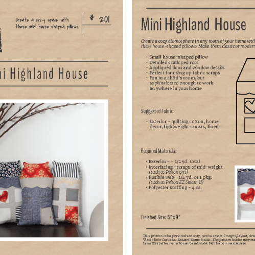 Mini Highland House Pattern | Radiant Home Studio