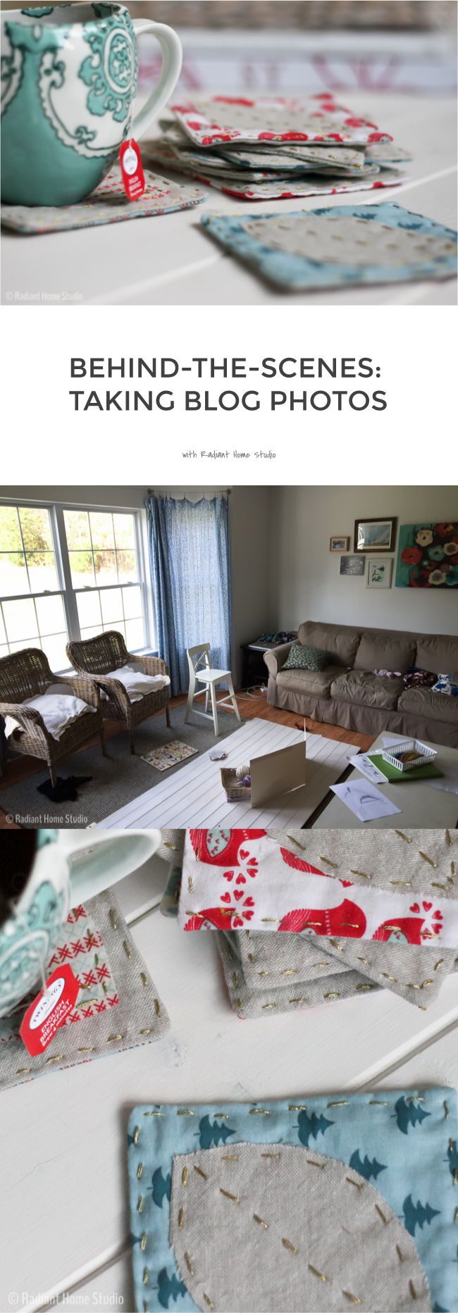 Behind-the-Scenes: What My House Really Looks Like When I Take Blog Photos | Radiant Home Studio