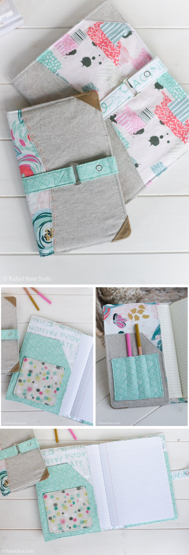 Chalk and Paint Notebook Cover | Radiant Home Studio