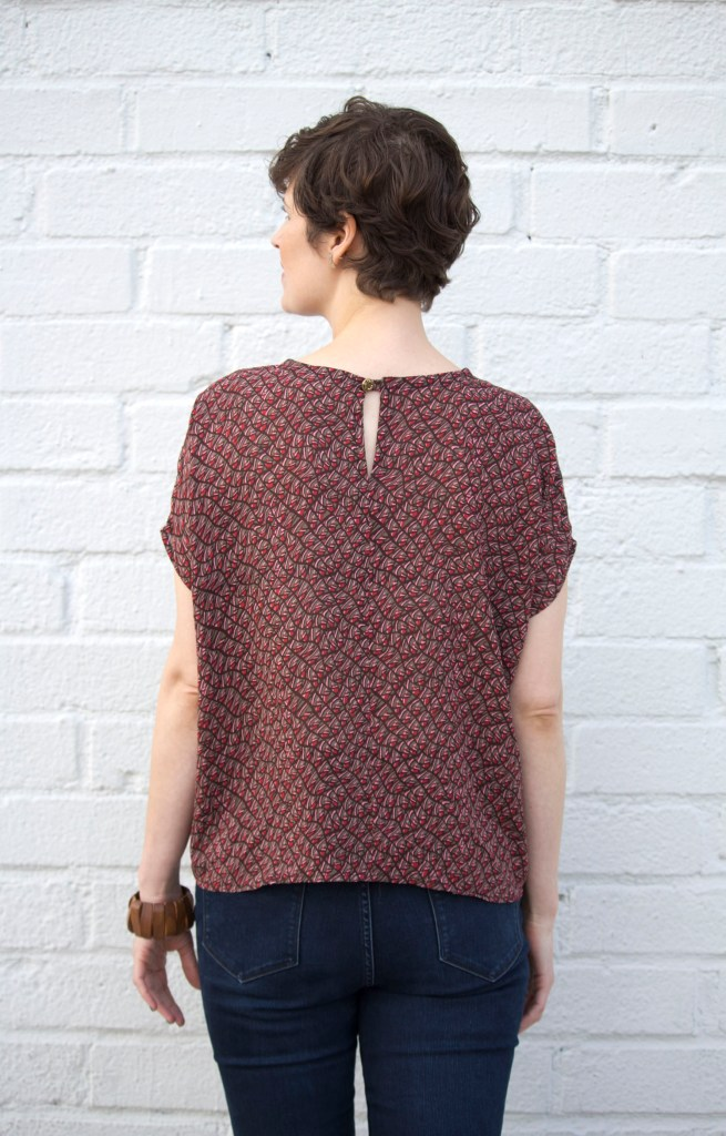 5 Flowing Blouses to Sew | Lou Box Top by SewDIY | Radiant Home Studio