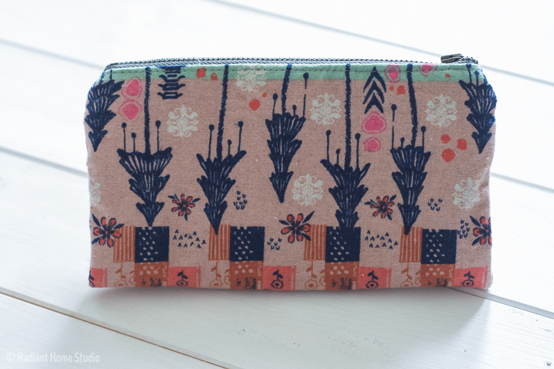 Double Zip Wallet From Handmade Style | Tokyo Train Ride Fabric | Radiant Home Studio