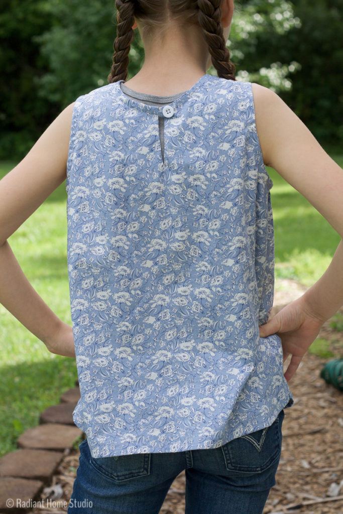 Sewing a Girls Woven Tank Top | Radiant Home Studio